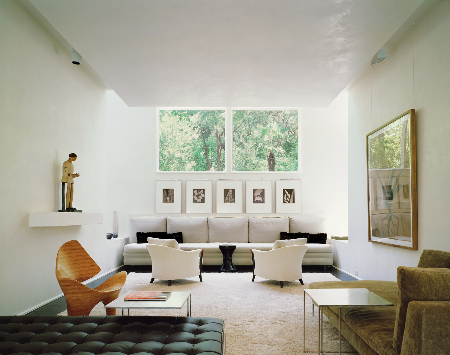 Collector S House Andersson Wise Architects -> Sala Simples Clean